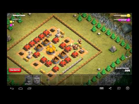 Gobbotown -Town Hall Level 3 - 1 Archers, 9 Giants - Simple Clash of Clans