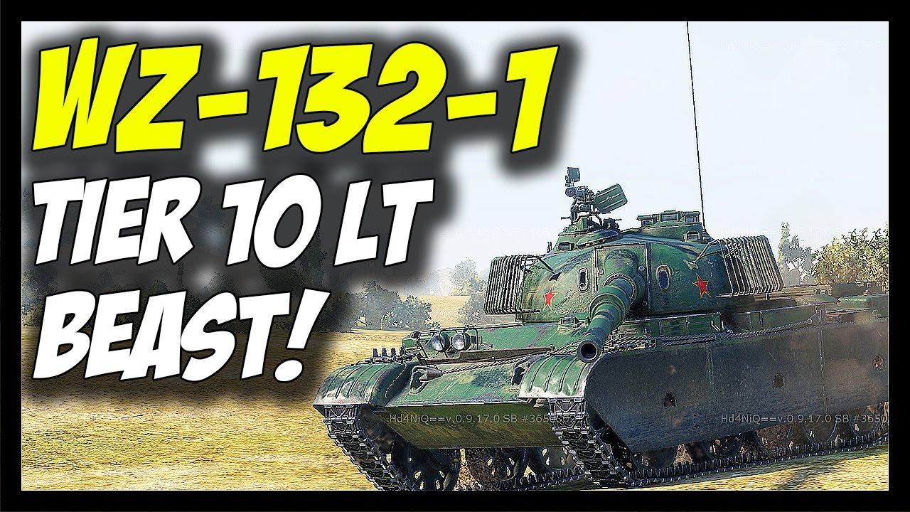 ► WZ-132-1, Tier 10 Chinese Light Tank - World of Tanks WZ-132-1 Gameplay