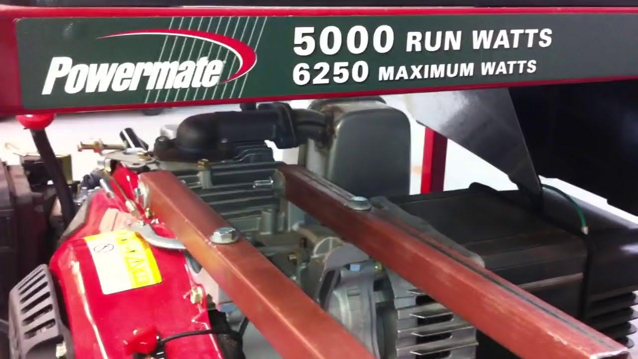 How To Make Your Generator Quiet,Powermate Generator  Bctruck, Rebuild,  Repair,Repurpose 06:22 HD