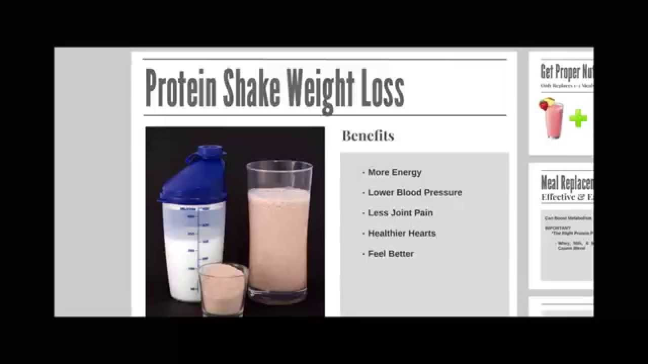 weight loss with protein shake program