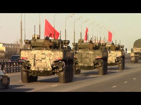 Victory Day Parade 2017 in Moscow - New Arctic Tor-M2DT and Pantsir-SA Russain Army