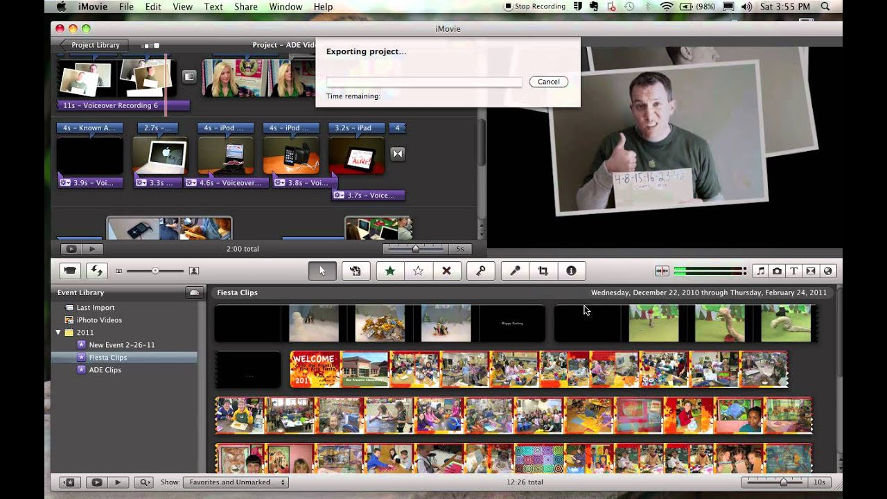 iMovie '09 - Exporting Your Finished Video - YouTube