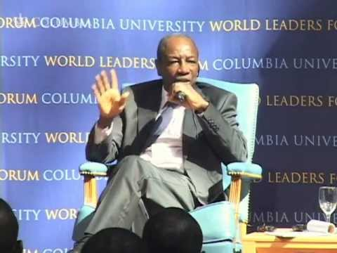 World Leaders Forum: President of the Republic of Guinea, Alpha Conde
