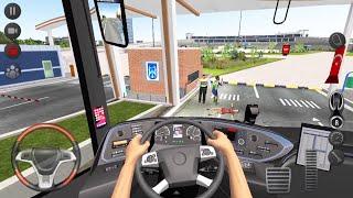 Long Road City Bus Driver 🚍👮🏻♂️ Bus Simulator : Ultimate Multiplayer! Bus Wheels Games Android 3D screenshot 1