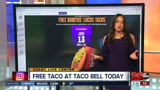 Free taco at Taco Bell today