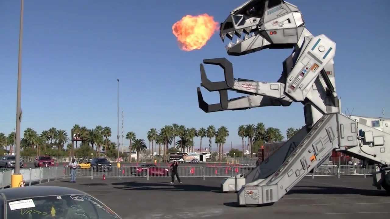Robosaurus! At Barrett Jackson Las Vegas 2010 - YouTube