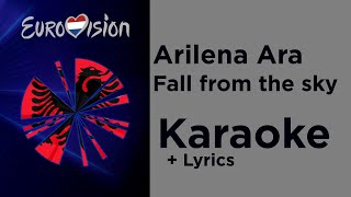 Arilena Ara - Fall from the sky (Karaoke) Albania Eurovision 2020