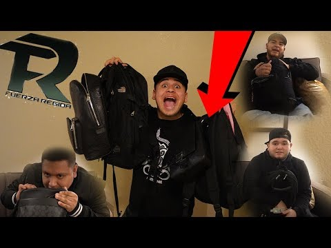 What's in FUERZA REGIDA'S bags?!