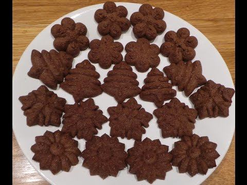 Chocolate Shortbread - Using A Cookie Press