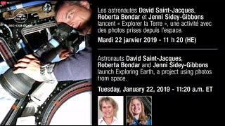 LIVE – David Saint-Jacques, Roberta Bondar and Jenni Sidey-Gibbons launch Exploring Earth