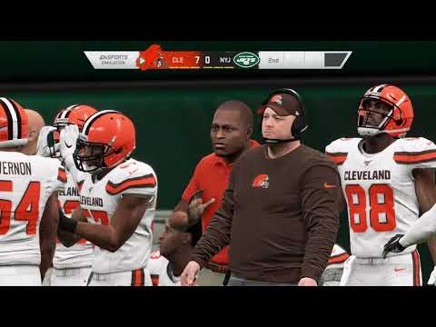 Cleveland Browns vs New York Jets - Monday Night Football NFL Week 2 - Madden 20 Gameplay 9/16/2019