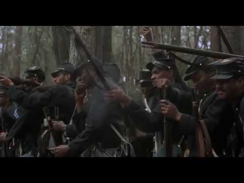 Glory (1989) - batalha campal -  guerra civil americana