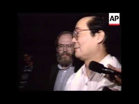 USA: CALIFORNIA: HUMAN RIGHTS ACTIVIST HARRY WU RETURNS HOME