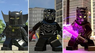 Evolution of Black Panther in LEGO Marvel Videogames