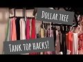 HANGiNG TANK TOPS | CLOSET HACKS!