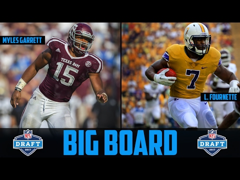 2017 NFL DRAFT Big Board NFL Draft Prospect Rankings Leonard Fournette Myles Garrett Deshaun Watson