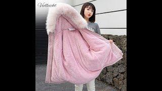 Vielleicht новый осень зима куртка для женщин женские сапоги с мехом и подкладкой плотная короткая