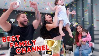 "WE WON! OUR REACTION TO WINNING THE ""BEST FAMILY CHANNEL"" AWARD!!"