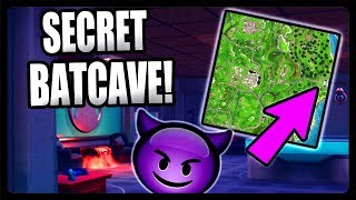 NEW SECRET BATCAVE ADDED TO FORTNITE! HIDDEN BATCAVE UNDER NEW MANSION SEASON 4