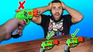 DONT Choose the Wrong Mystery NERF Gun Challenge!! *MOST DANGEROUS EDITION*