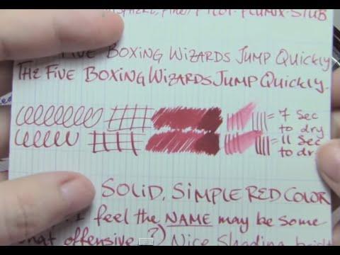 Ink Review: DeAtramentis Oriental Red Ink