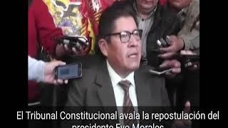 El Tribunal Constitucional de Bolivia da via libre a la repostulación de Evo Morales 2017 Video