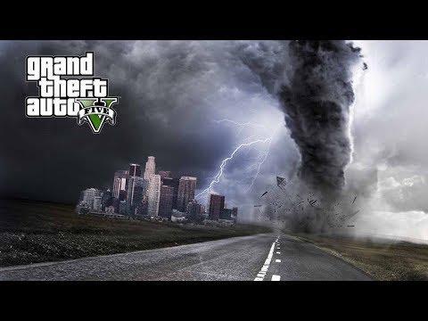 MASSIVE F5 TORNADO HIT MY HOUSE!!! GTA 5 REAL LIFE WEATHER MODS
