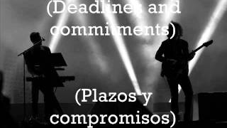 The Killers - Deadlines And Commitments Subtitulada