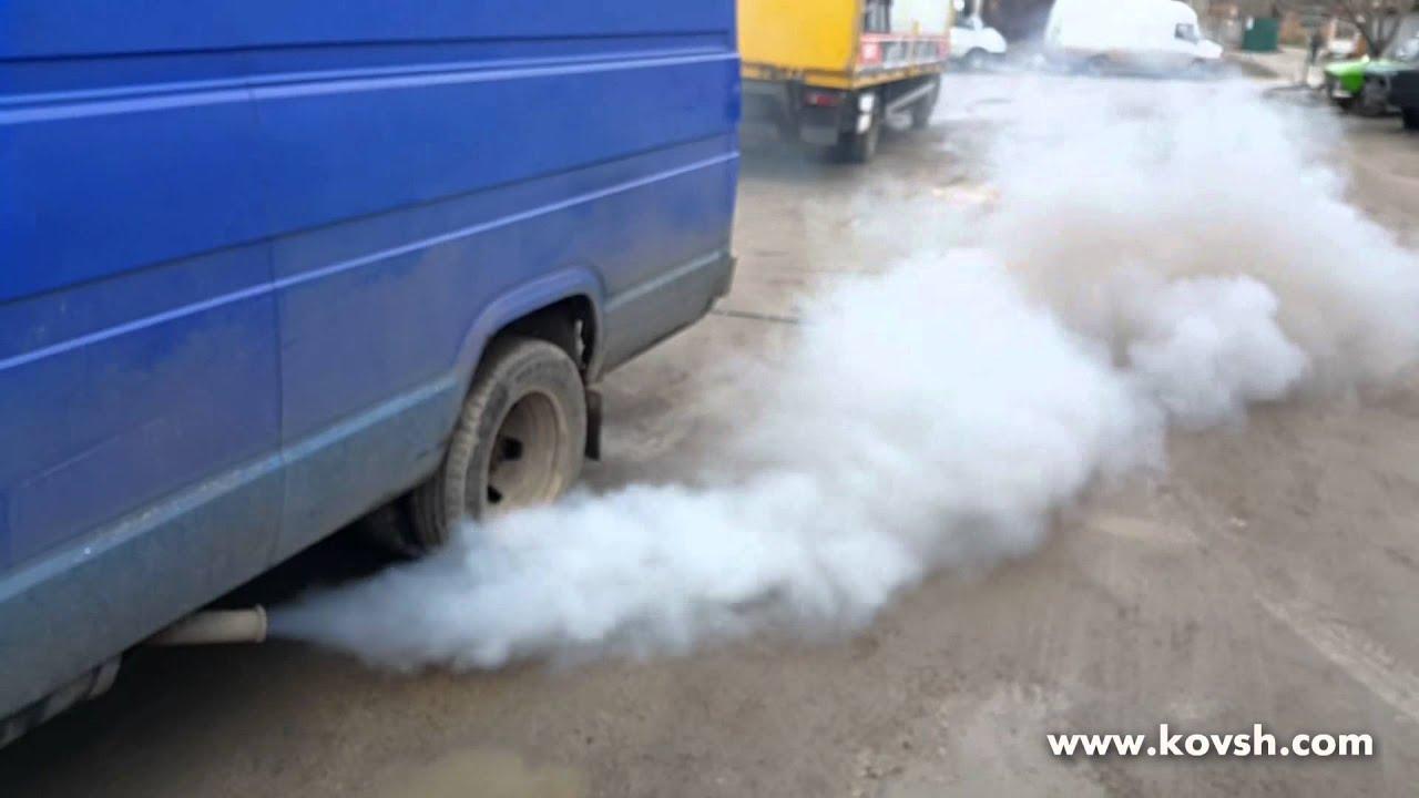 ситроен с4 дымит сизым дымом