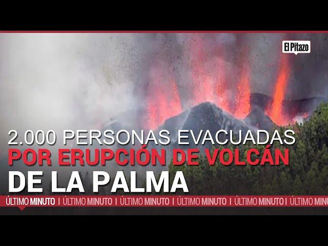 2.000 personas evacuadas por erupción de volcán en isla española de La Palma