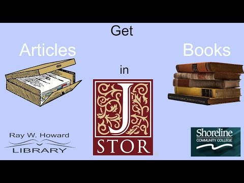 Get Articles & Books with JSTOR