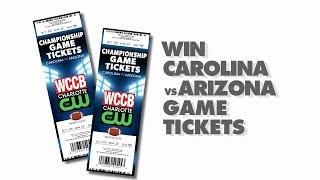 Watch WCCB News @ 10 TONIGHT to Win Carolina v Arizona Tickets!