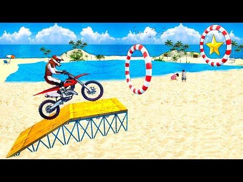 Bike Racing Games - Beach Bike Stunt Master 2018 - Gameplay Android free games - 동영상