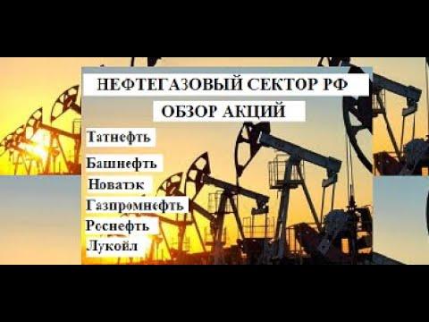 НЕФТЕГАЗОВЫЙ СЕКТОР РФ. Обзор акций Башнефть Татнефть Новатэк Газпромнефть Роснефть Лукойл