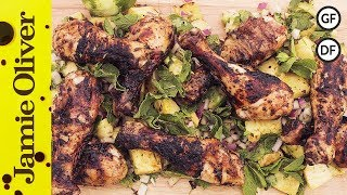 Jerk Chicken With Pineapple Salsa | Dj Bbq & Bondi Harvest