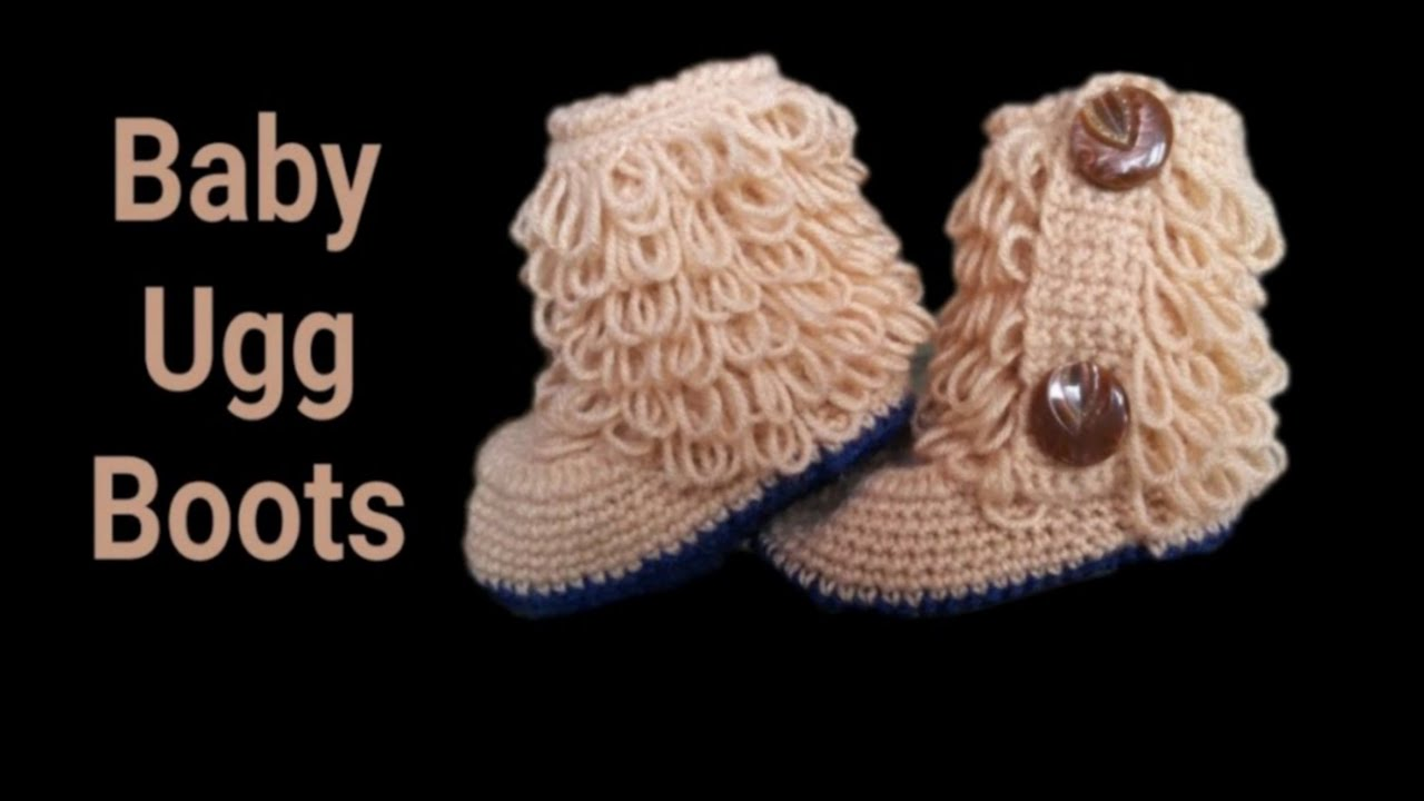 Crochet Loop Stitch Ugg Boots Easy And Quick Tutorial Youtube
