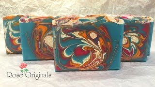 Making & Cutting of Summer Blossom Handcrafted Soap