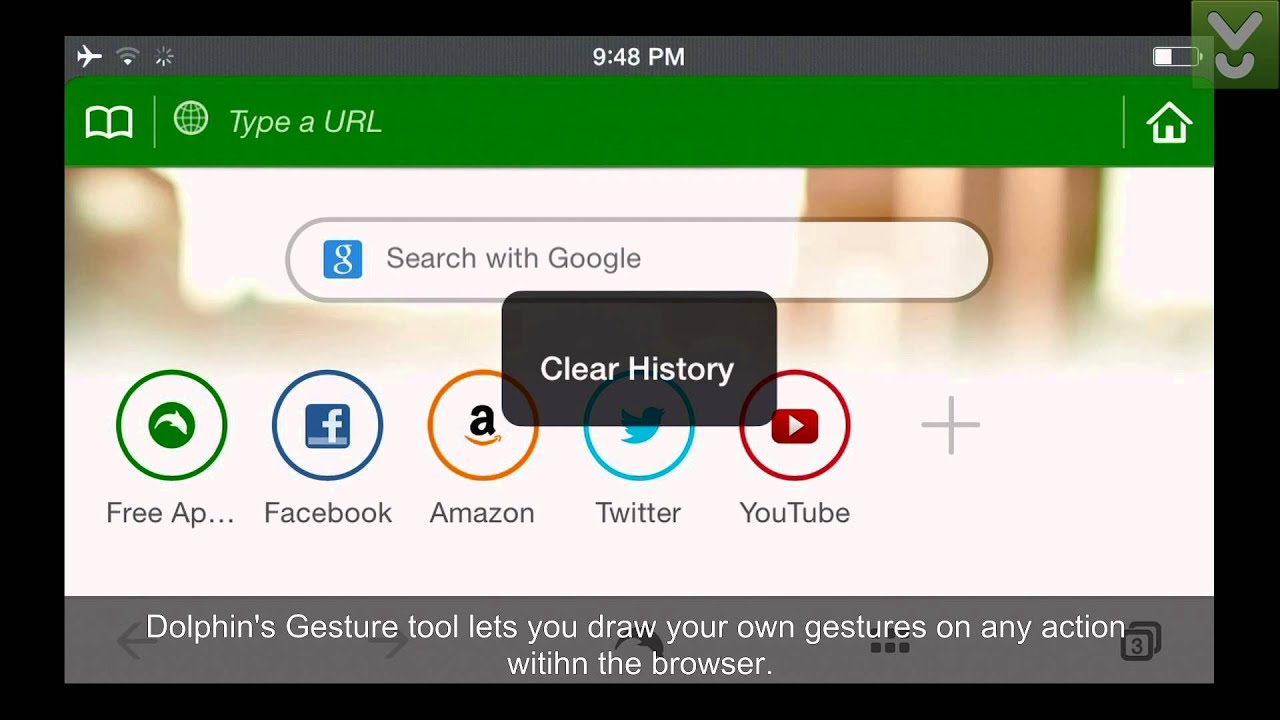 Dolphin Browser for iOS - Surf the Web with the support of gestures -  Download Video Previews
