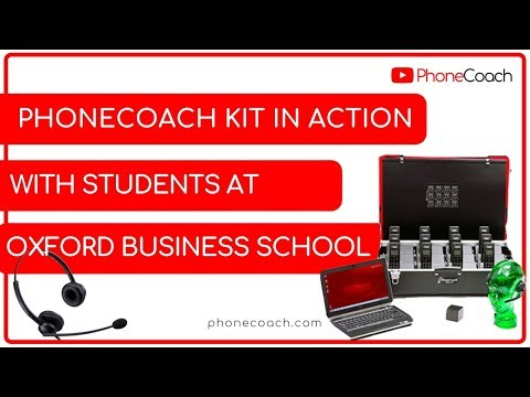 Phone skills training at Oxford Media Business School