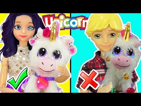 Marinette y Adrien cuidan a un unicornio