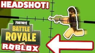 HOW TO SNIPE! (Roblox Fortnite Island Royale)
