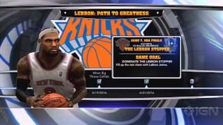NBA 2K14 LeBrons Path to Greatness Mode Commentary