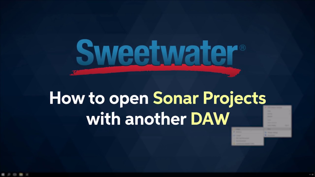 How to Open Sonar Projects in Other DAWs | Sweetwater