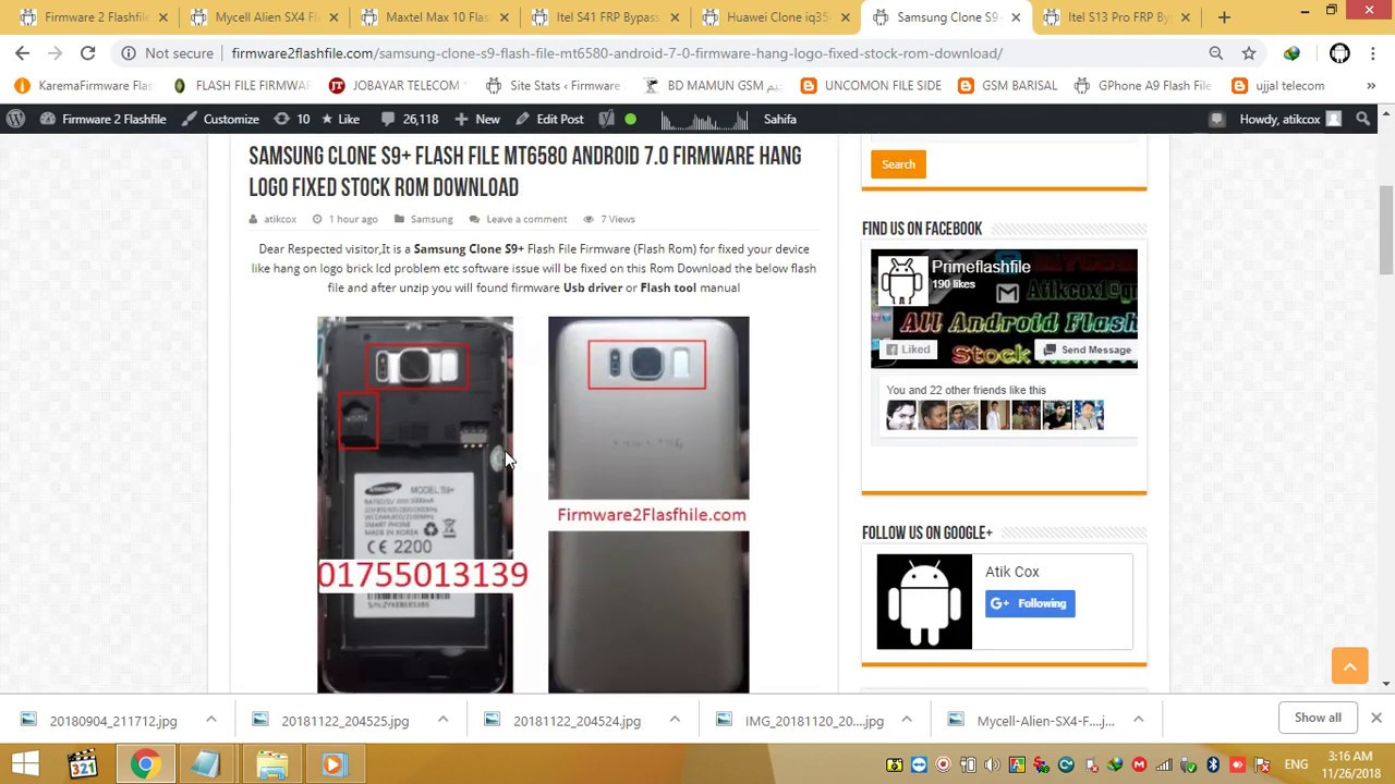 Samsung Clone S9+ Flash File MT6580 Android 7 0 Firmware Hang Logo Fixed  Stock Rom Download