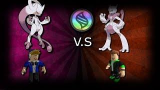 Roblox Pokemon Brick Bronze Mega Mewtwo Y V.S Mega Mewtwo X