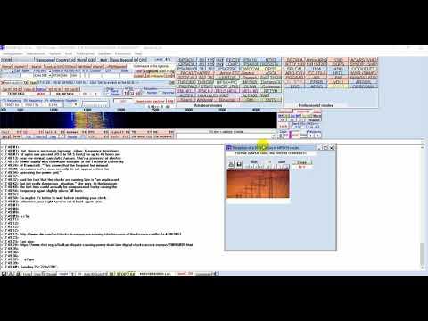 Decoding recorded Shortwave Radiogram #38 on 9400 kHz shortwave (via Bulgaria)
