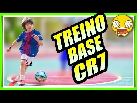 TREINO DE BASE DO CR7 : DRIBLE + CHUTE  PARA TREINAR FUTEBOL SOZINHO
