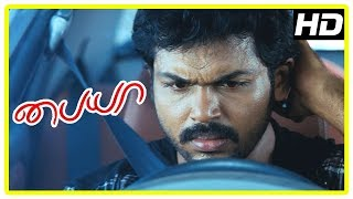 Paiya Tamil Movie Scenes | Karthi and Tamanna escape from the goons | Karthi admires Tamanna