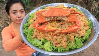 How to cook rice fried with crab recipe - Cooking rice fired recipe