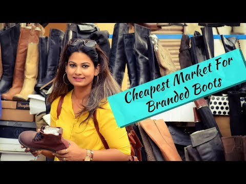 Buy Your Boots From This Market   Cheapest Market For Leather Items   City of Taj Mahal